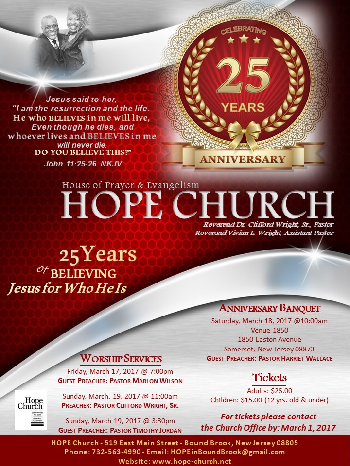 Church Anniversary Flyers  BesikEightyCo