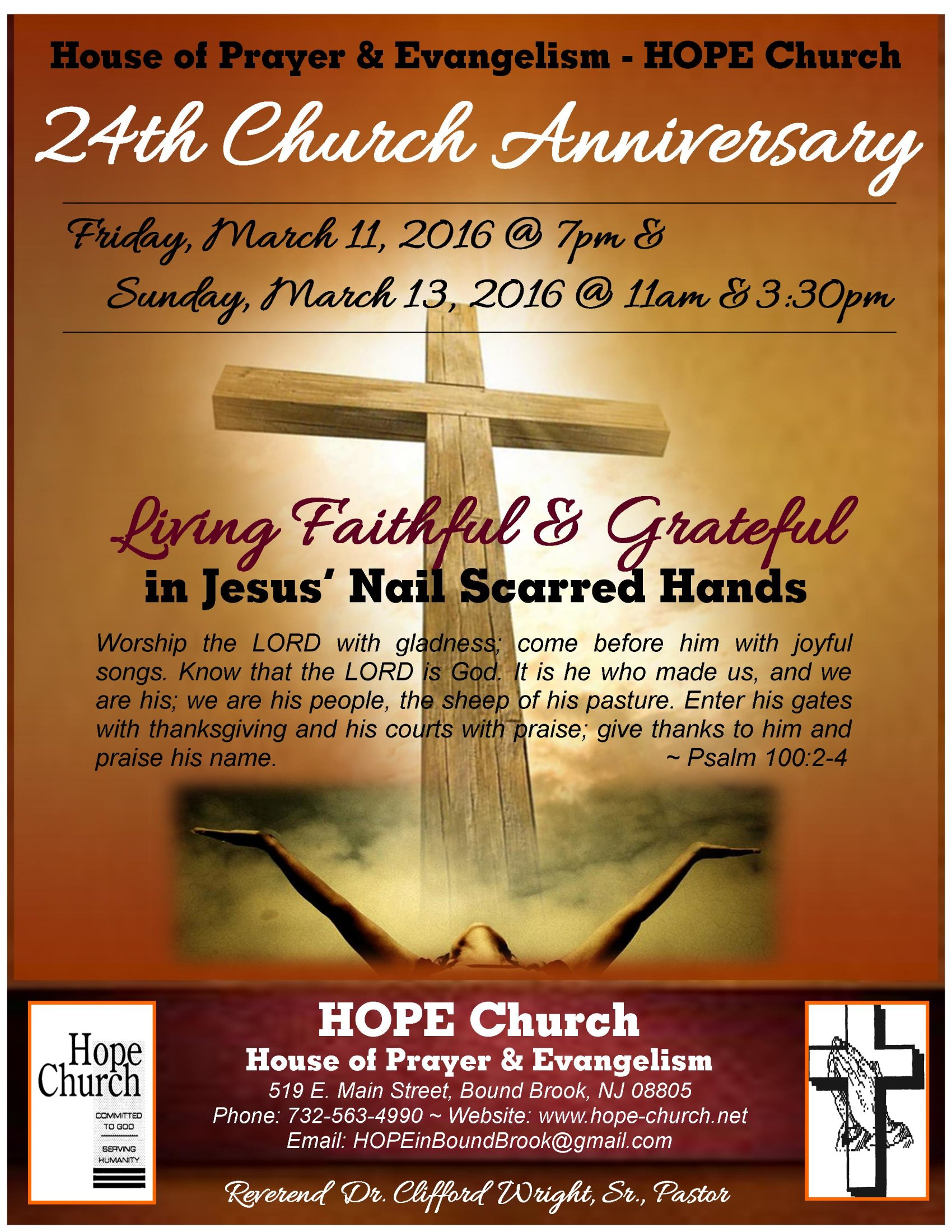24th Church Anniversary – Flyer FINAL