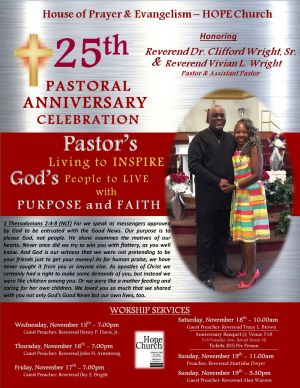 Pastor\'s 25th Anniversary - FINAL Flyer